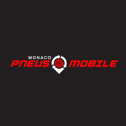 Bold Logo for Monaco Pneus Mobile