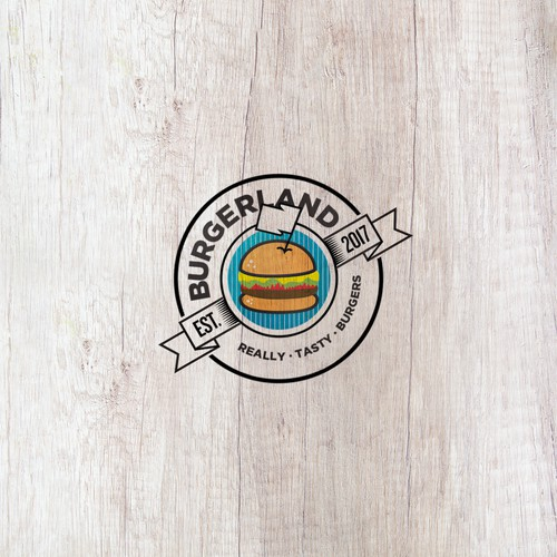 Logo for a burger joint