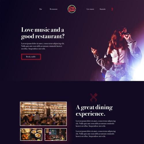 Music Restaurant site design