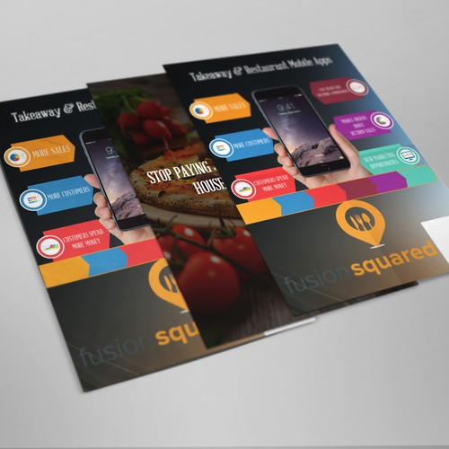 Leaflet/Flyer for mobile app company - specialising in food