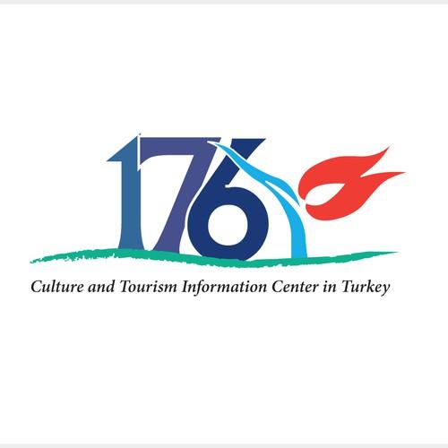 Logo concept for tourism logo