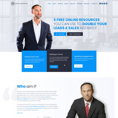 Marketing Coach Homepage