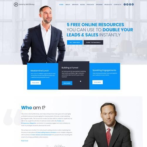 Marketing Coach Homepage
