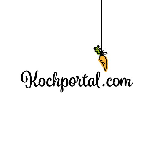 Fun logo for a food related online portal.