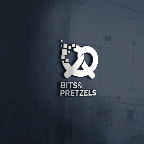 Bits & Pretzels logo concept.