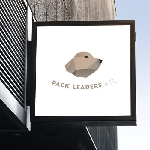 Modern logo for dog walking company