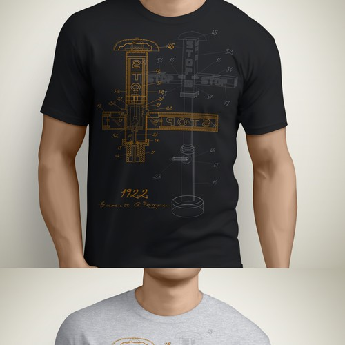 Sketch a fresh design for historic invention tshirt contest