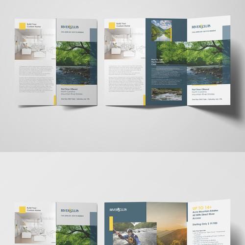Tri Fold Brochure For Riverclub