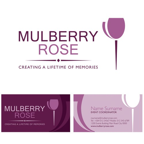 Create the next logo for Mulberry Rose