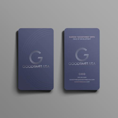 elegant business card for goodtimes usa.