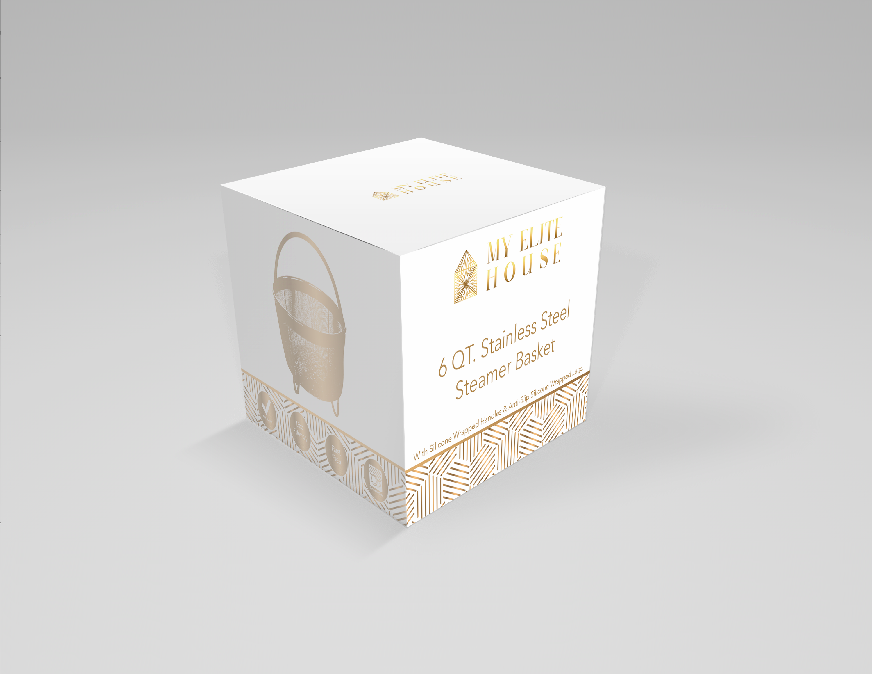 Clean & Sophisticated, Luxurious packaging design.