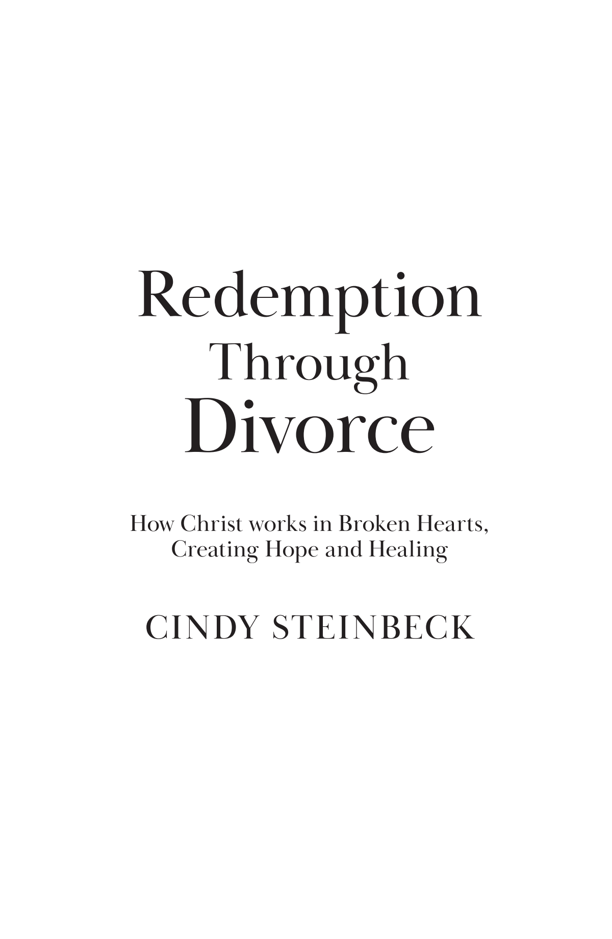 Redemption Book Layout