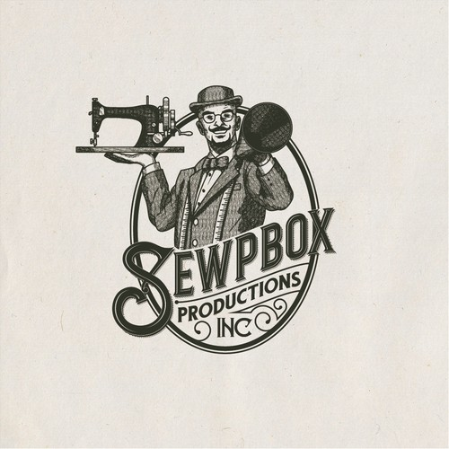 1800s Logo for SewpBox Productions, Inc.