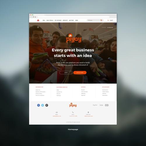 Website design for Piyay