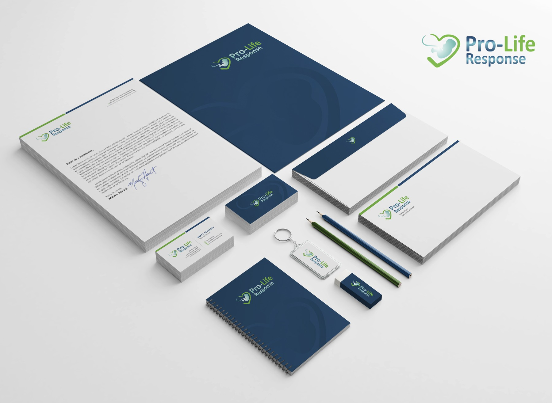 Create a branding package for Pro-Life Response non-profit organization