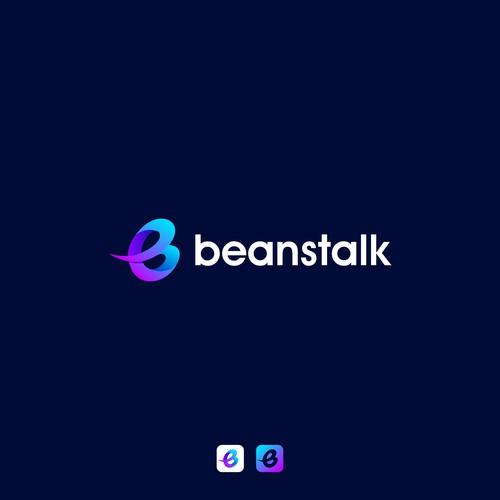 Letter B logo concept for Beanstalk