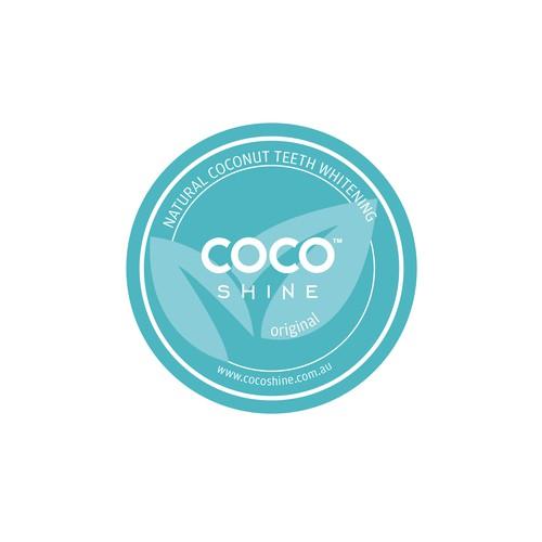 Etiqueta coconut shine