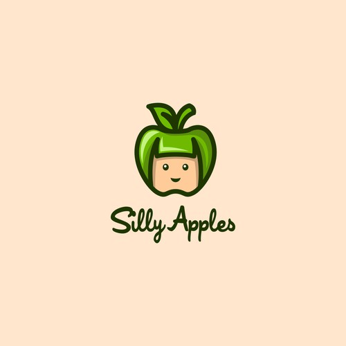 Bold logo for Silly Apple