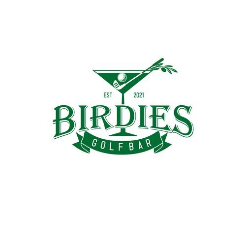 Golf bar logo for Colorado mountain town