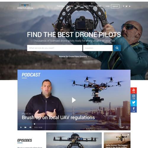 Website for a Drone pilot marketplace