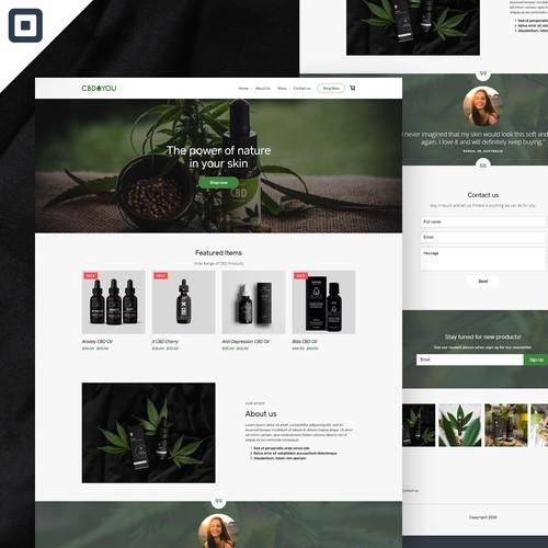 CBD4You - CBD company store web design