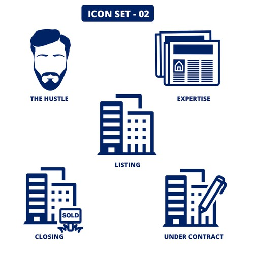 Custom made icon set