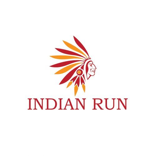 Logo design for INDIAN RUN