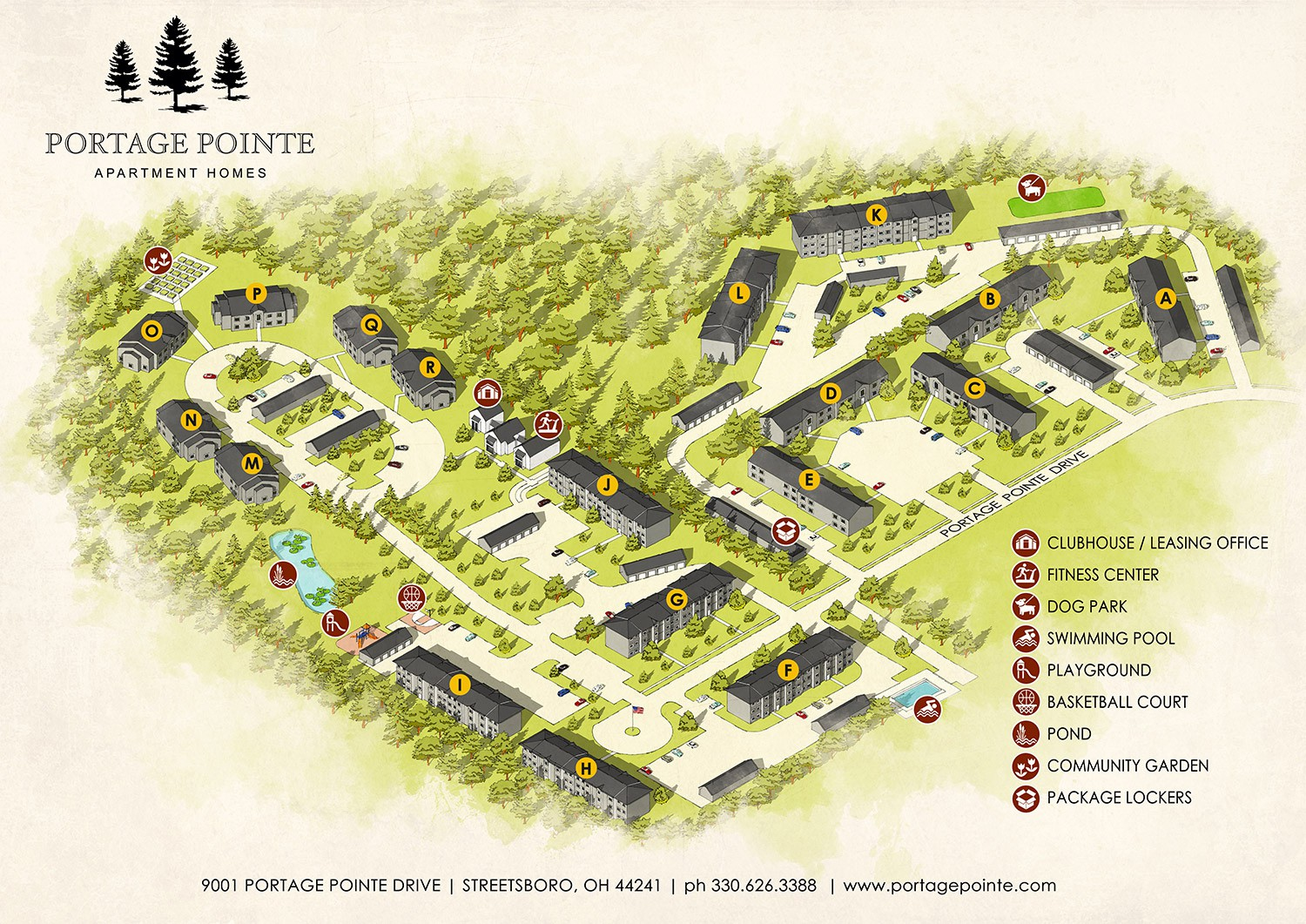 Design a Sight Map for an apartment community