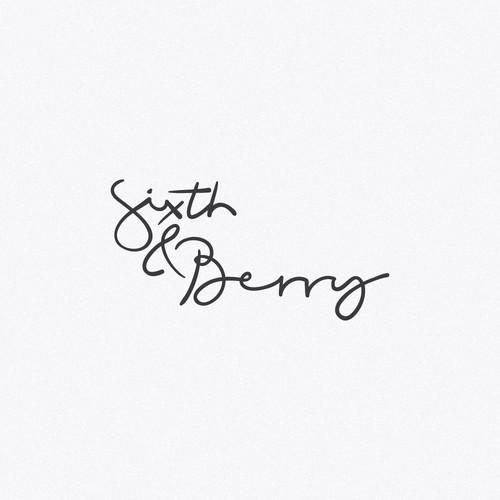 Hand-drawn logo for the wedding invitation/stationery designer