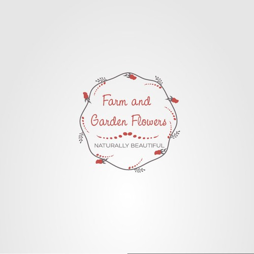 Logo for a flower-growing business