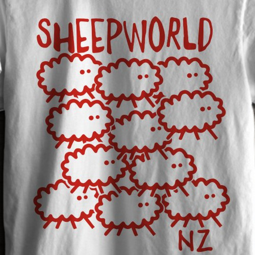 T shirt design for Sheepworld