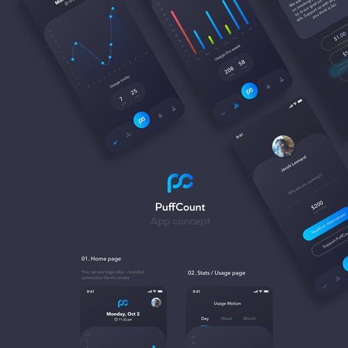 PuffCount design concept