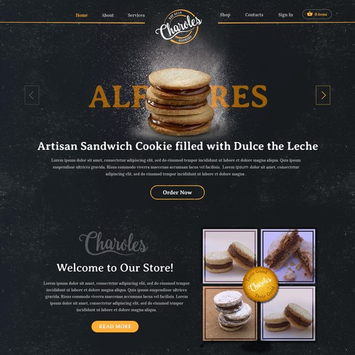 Creation of delicious cookies (Alfajores) website