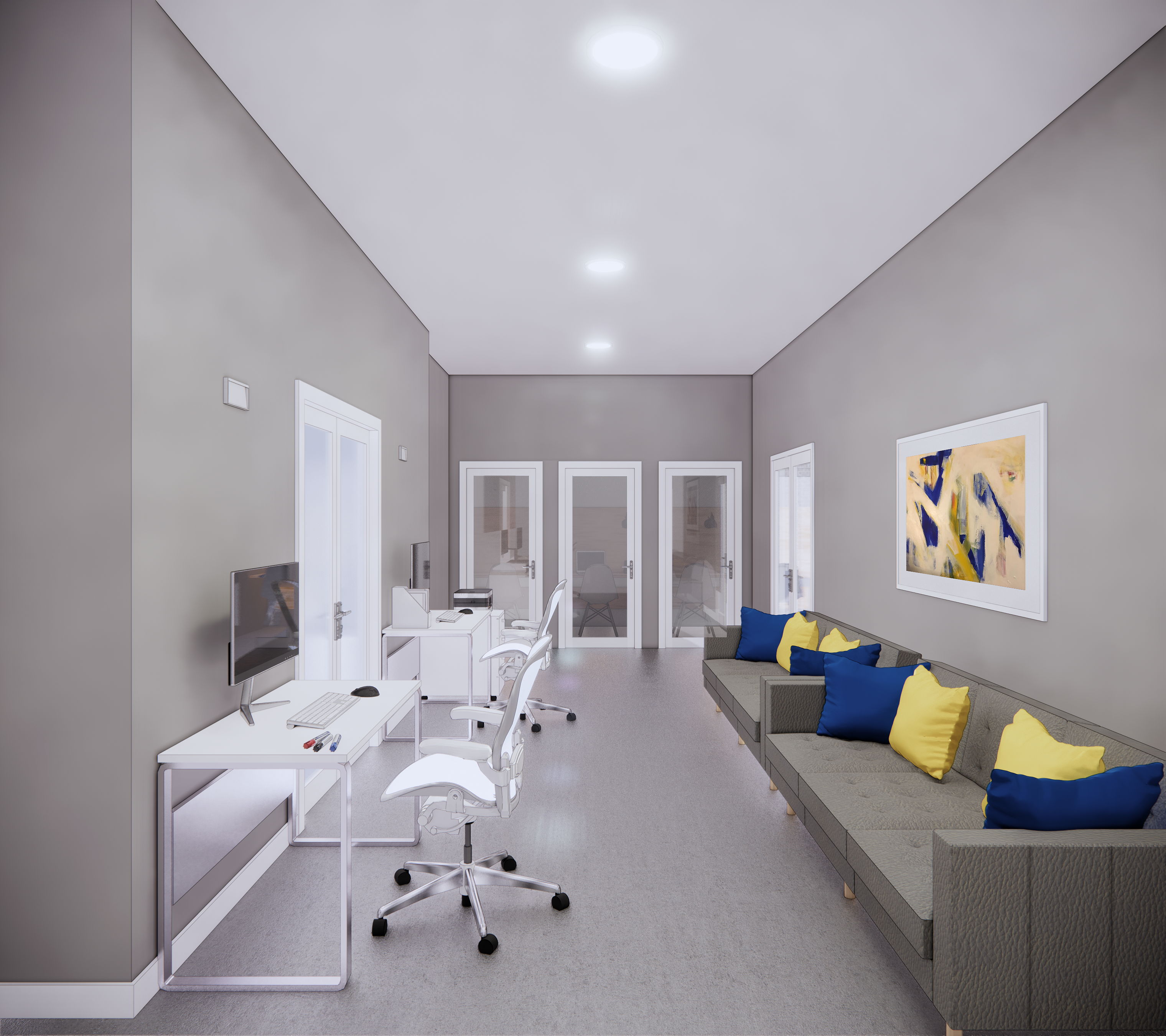 Renderings for Hospitality House in Baltimore - Lower Level Buildout