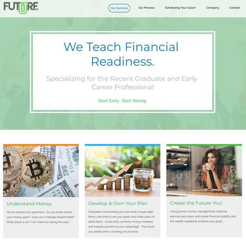 FutureU Financial Landing Page
