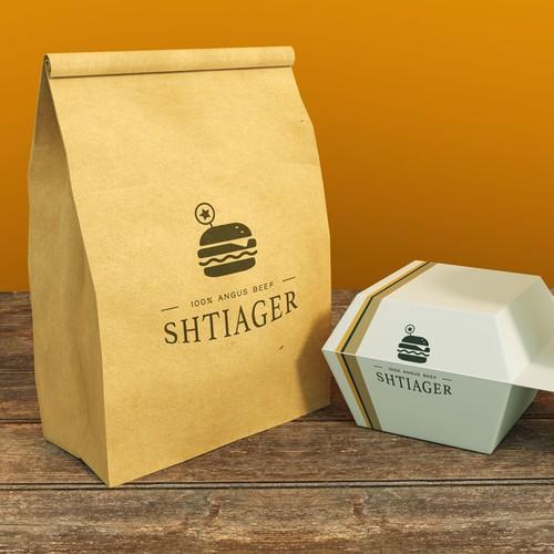 Logo for burger restaurant.