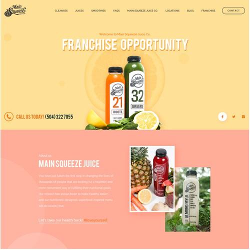 Main Squeeze Juice Website Design