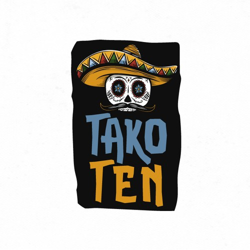 Bold and vibrant logo for an upscale Taco franchise.