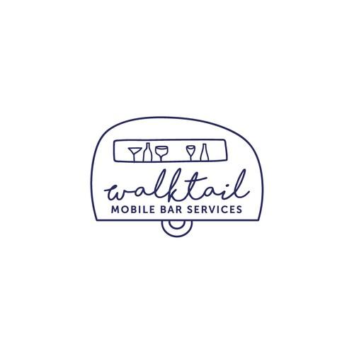 Logo for a mobile bar