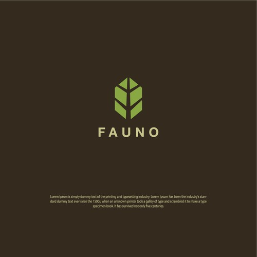 Geometric logo agriculture