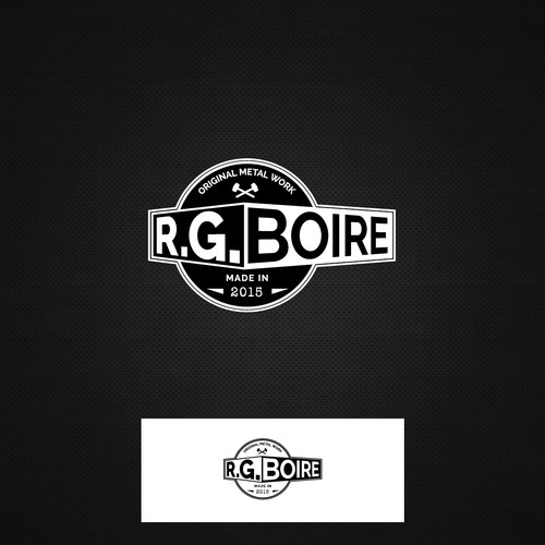 Bold logo for Mr RG Boire, Metal Worker