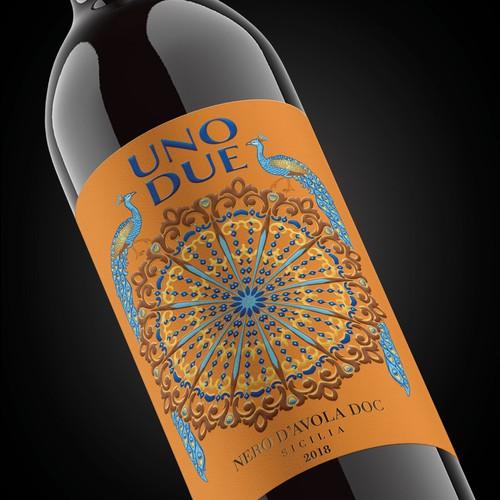 Uno Due wine label design
