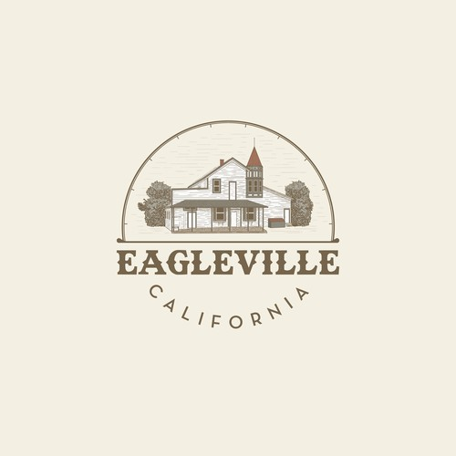 Hand drawn logo for historical building