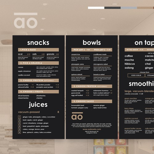 AO Healthy Fast Casual + Juice Bar