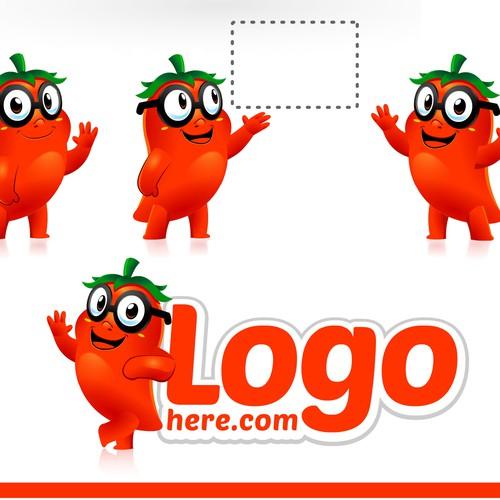 Mascog logo for chili character
