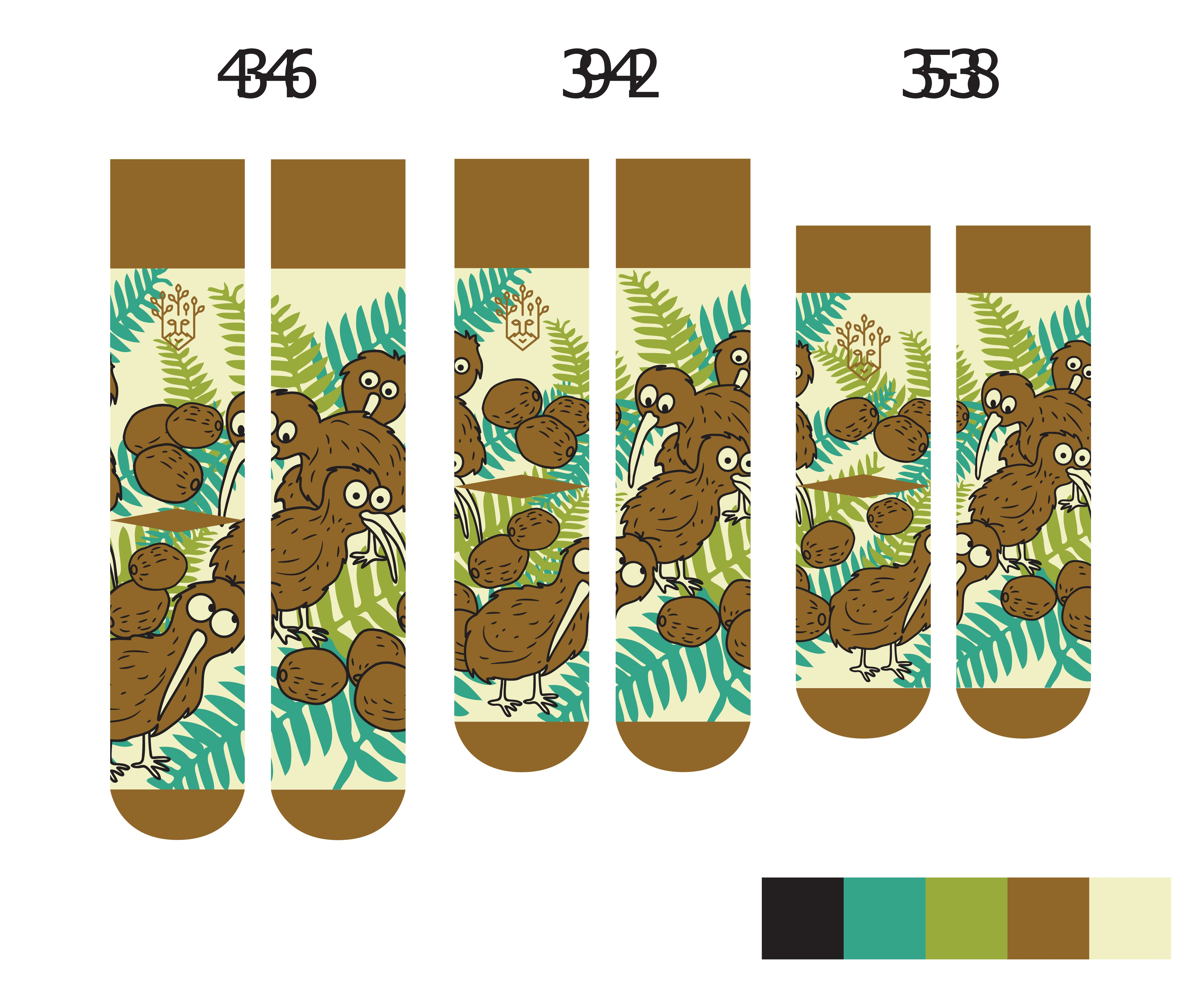 Funny miss-matched socks for fresh European brand