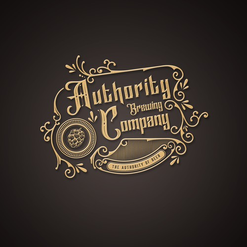 logo concept for The Authority Beer Brewing Company