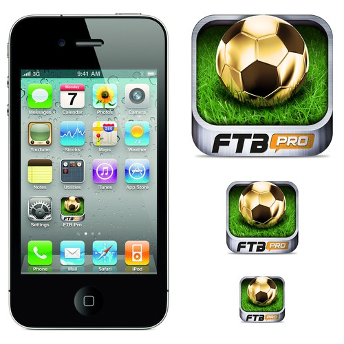 Create a winning mobile app icon design for FTBpro -The Football News App
