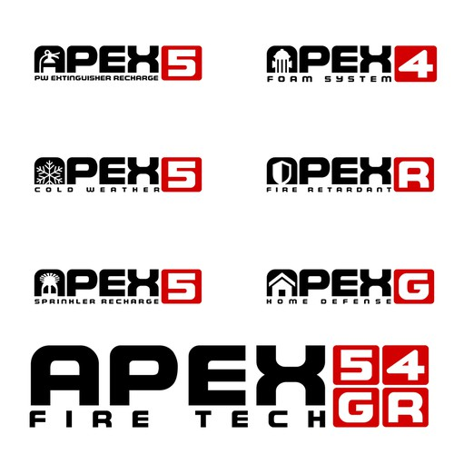 APEX logo set design