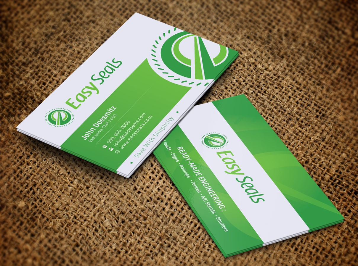 """Help """"Easy Seals"""" with a new business card"""